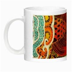 The Beautiful Of Art Indonesian Batik Pattern Night Luminous Mugs by Onesevenart