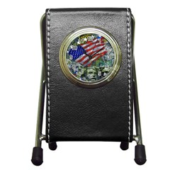 Usa United States Of America Images Independence Day Pen Holder Desk Clocks by Onesevenart
