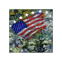 Usa United States Of America Images Independence Day Acrylic Tangram Puzzle (4  x 4 ) by Onesevenart
