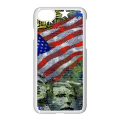 Usa United States Of America Images Independence Day Apple Iphone 7 Seamless Case (white) by Onesevenart