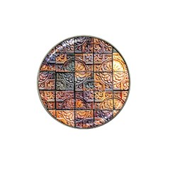 Wooden Blocks Detail Hat Clip Ball Marker (4 Pack) by Onesevenart