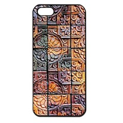 Wooden Blocks Detail Apple Iphone 5 Seamless Case (black) by Onesevenart