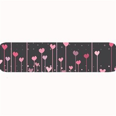 Pink Hearts On Black Background Large Bar Mats by TastefulDesigns
