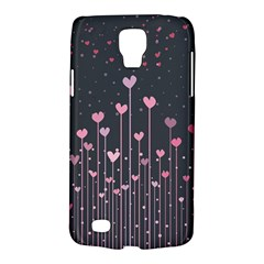 Pink Hearts On Black Background Galaxy S4 Active by TastefulDesigns
