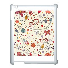 Spring Floral Pattern With Butterflies Apple Ipad 3/4 Case (white) by TastefulDesigns