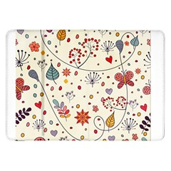 Spring Floral Pattern With Butterflies Samsung Galaxy Tab 8 9  P7300 Flip Case