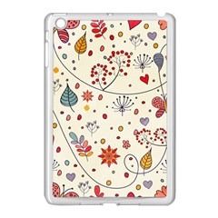 Spring Floral Pattern With Butterflies Apple Ipad Mini Case (white) by TastefulDesigns