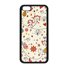 Spring Floral Pattern With Butterflies Apple Iphone 5c Seamless Case (black) by TastefulDesigns