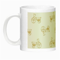Retro Bicycles Motif Vintage Pattern Night Luminous Mugs by dflcprints