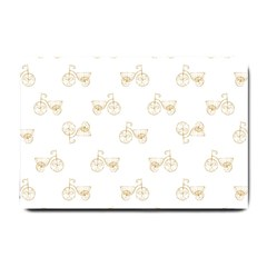 Retro Bicycles Motif Vintage Pattern Small Doormat  by dflcprints
