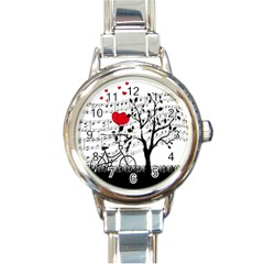 Love song Round Italian Charm Watch