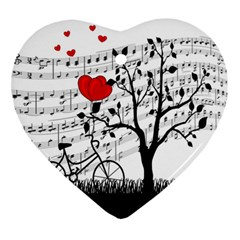 Love Song Ornament (heart) by Valentinaart