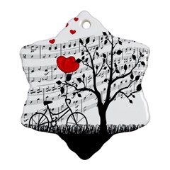 Love Song Snowflake Ornament (two Sides) by Valentinaart