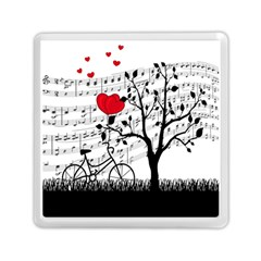 Love Song Memory Card Reader (square)  by Valentinaart