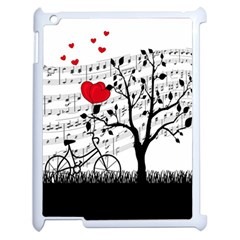 Love Song Apple Ipad 2 Case (white) by Valentinaart