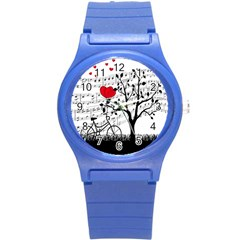 Love Song Round Plastic Sport Watch (s) by Valentinaart