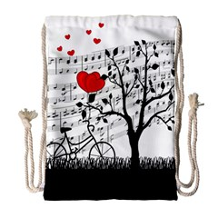 Love Song Drawstring Bag (large) by Valentinaart