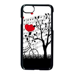 Love Song Apple Iphone 7 Seamless Case (black) by Valentinaart