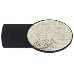 Cherry Blossom Usb Flash Drive Oval (4 Gb) by Valentinaart