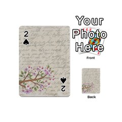Cherry Blossom Playing Cards 54 (mini)  by Valentinaart