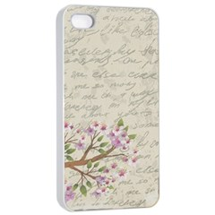 Cherry Blossom Apple Iphone 4/4s Seamless Case (white) by Valentinaart