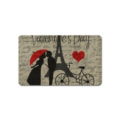 Love letter - Paris Magnet (Name Card) by Valentinaart