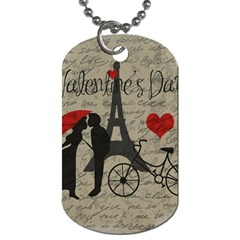 Love Letter   Paris Dog Tag (two Sides) by Valentinaart
