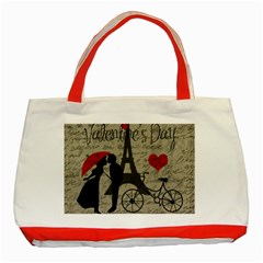 Love Letter   Paris Classic Tote Bag (red) by Valentinaart