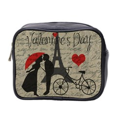 Love Letter   Paris Mini Toiletries Bag 2 Side by Valentinaart