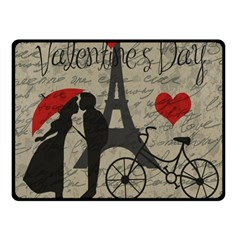 Love Letter   Paris Fleece Blanket (small) by Valentinaart