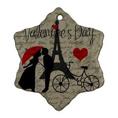 Love Letter   Paris Ornament (snowflake) by Valentinaart