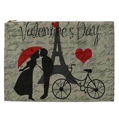Love Letter   Paris Cosmetic Bag (xxl)  by Valentinaart