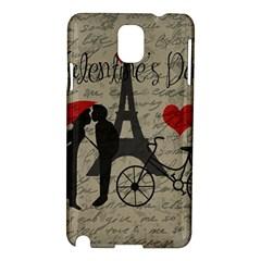 Love Letter   Paris Samsung Galaxy Note 3 N9005 Hardshell Case by Valentinaart