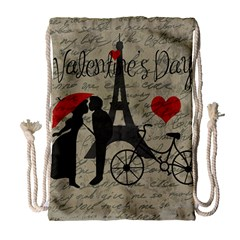 Love Letter   Paris Drawstring Bag (large) by Valentinaart