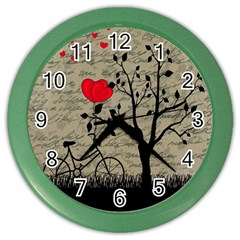 Love Letter Color Wall Clocks by Valentinaart