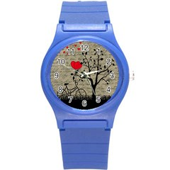 Love Letter Round Plastic Sport Watch (s) by Valentinaart