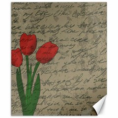 Vintage Tulips Canvas 8  X 10  by Valentinaart
