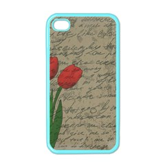 Vintage Tulips Apple Iphone 4 Case (color) by Valentinaart