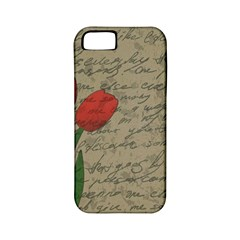 Vintage Tulips Apple Iphone 5 Classic Hardshell Case (pc+silicone) by Valentinaart