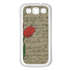 Vintage Tulips Samsung Galaxy S3 Back Case (white) by Valentinaart