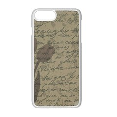 Vintage Tulips Apple Iphone 7 Plus White Seamless Case by Valentinaart