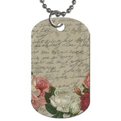 Vintage Roses Dog Tag (two Sides) by Valentinaart