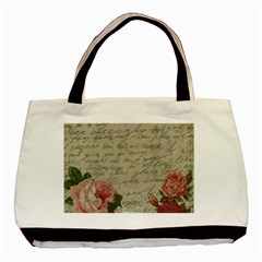 Vintage Roses Basic Tote Bag (two Sides) by Valentinaart