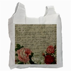 Vintage Roses Recycle Bag (one Side) by Valentinaart