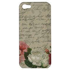 Vintage Roses Apple Iphone 5 Hardshell Case by Valentinaart
