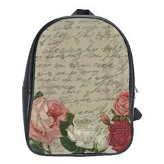 Vintage Roses School Bags (xl)  by Valentinaart
