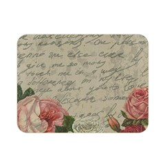 Vintage Roses Double Sided Flano Blanket (mini)  by Valentinaart