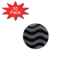 Two Layers Consisting Of Curves With Identical Inclination Patterns 1  Mini Magnet (10 Pack)  by Simbadda