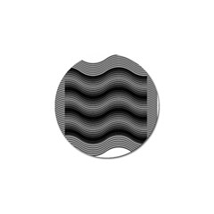 Two Layers Consisting Of Curves With Identical Inclination Patterns Golf Ball Marker (10 Pack) by Simbadda