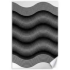 Two Layers Consisting Of Curves With Identical Inclination Patterns Canvas 12  x 18